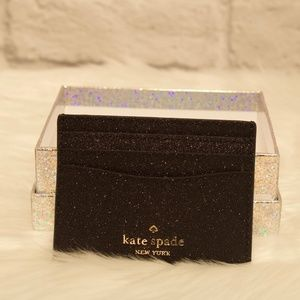 Kate Spade Lola Boxed Small Glitter Card Holder